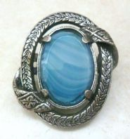 Vintage Miracle Scottish Celtic Sash Style Brooch.